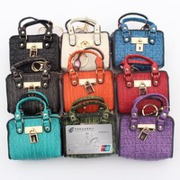 Women Clutch Coin purse fashion mini handbag model change purse Lady Key card Holder female money small handbags coins bag pouch