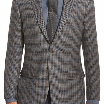 Hart Schaffner Marx 'New York' Classic Fit Check Wool Sport Coat,