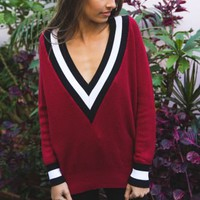 Varsity Sweater Mulberry - Best Sellers - Clothes