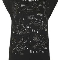 Animals In The Stars Tee by Tee & Cake - Black