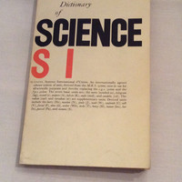 Dictionary of Science Reference Chemistry Astronomy Physics Molecular Biology Biochemistry Vintage Book Scientist Education Teacher Student