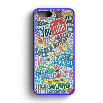 Youtubers Collage Fan Art  iPhone 5 Case iPhone 5s Case iPhone 5c Case