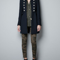 MILITARY COAT WITH GOLD BUTTONS - Coats - Woman - ZARA Netherlands