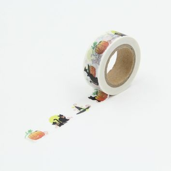 Easter Day Pumpkin Black Cat Washi Paper Masking Tapes DIY Scrapbooking Decors Decorative Stickers Crafts Gift Wrapping Sticker