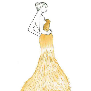 Elegance is Key - Print from original fashion illustration by Lexi Rajkowski