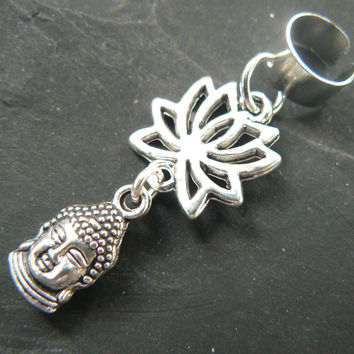 yoga ear cuff  lotus flower buddha meditation Indie Zen New age Namaste  in gypsy hippie hipster yoga belly dancer  style