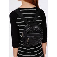 Quilted Rounded Backpack Black - Accessories - Bags & Purses - Missguided