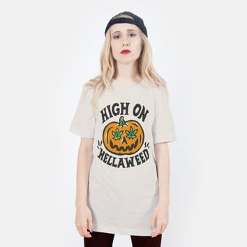 High on Hella Weed Halloween T-shirt - UNISEX sizes S, M, L, XL