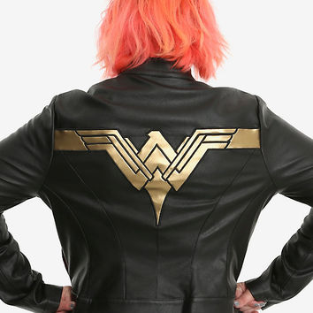DC Comics Justice League Wonder Woman Faux Leather Jacket Plus Size