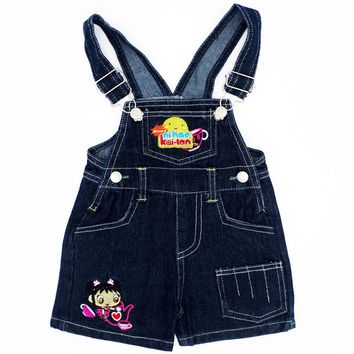 Brand New 4 Size Fashion Pant Baby Boys Girls Bib Pants Children Denim Overall Trousers Kids Cartoon Infant Jeans Jumpsuits Pant