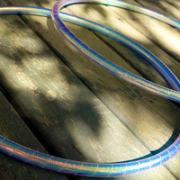 Mermaid Color-Change Rainbow Morph Hula Hoops - Translucent Color Morphing Tape - Cyan, Magenta, Orange, Purples