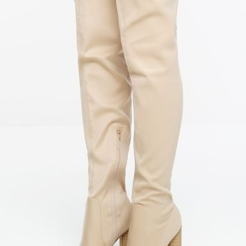 City Streets Boots - Nude Lycra