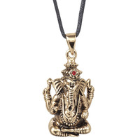Bronze Ganesh Pendant                              - New Age, Spiritual Gifts, Yoga, Wicca, Gothic, Reiki, Celtic, Crystal, Tarot at Pyramid Collection