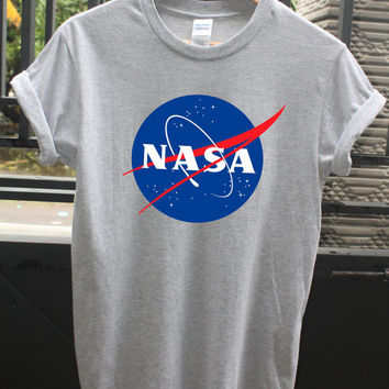 NASA shirt, Space shirt, unisex adult shirt, size S-XL, available colour Black - White - Gray