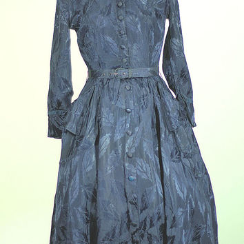 1950 MIDNIGHT BLUE COCKTAIL DRESS BY JONATHAN LOGAN, NEW LISTING