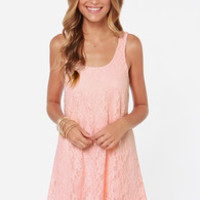 Full of Grace Pink Lace Dress