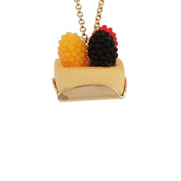 N2 by Les Néréides GOURMET COFFEE FRUIT TART LONG NECKLACE