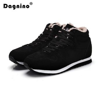 DAGNINO Lovers 2017 Fashion Suede Women Winter Casual Shoes Woman Keep Warm Plush Ankle Work Snow Boots Female Big Size 35-48
