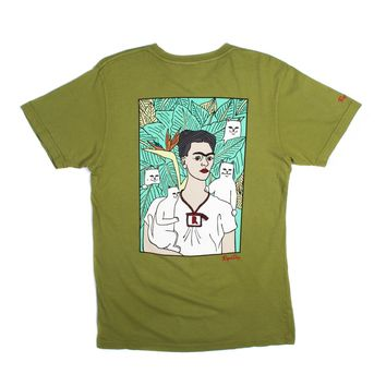Nermal Portrait Tee (Vintage Military Green)