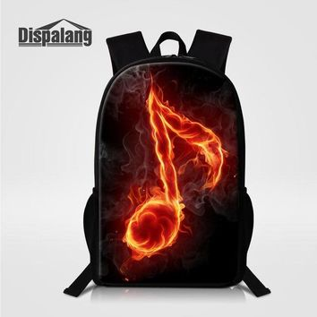School Backpack Dispalang Backpacking Backpack Cartoon Music Note Prints Women Cute Lightweight Bookbags Middle High School Bags for Teen Girls AT_48_3