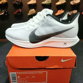 NIKE ZOOM PEGASUS 35 TURBO air cushion casual sports running shoes F-A50-XYZ white