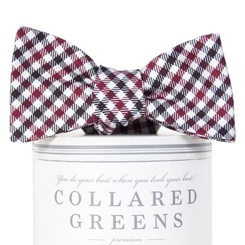 Gameday Bow Tie in Garnet and Black by Collared Greens