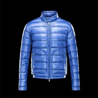 Moncler ACORUS Ultralight Bright blue Jackets Techno Fabric/Polyamide Mens 41338935LS