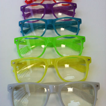 Rave Glow-in-the-dark light show glasses