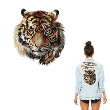 XC Ironing Stickers Heat Transfer DIY Accessory Clothes Patches for Women Live Tiger Animal Patch A-level Washable Appliques