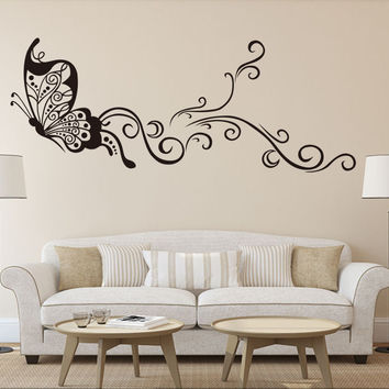 Strong Character Creative Wall Sticker Butterfly Living Room Bedroom Decoration Waterproof Stickers [4923145220]