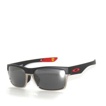 CLEARANCE~OAKLEY SunglasseS (A) TWO FACE 9256-08 MATTE BLACK IRIDIUM *FERRARI*