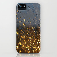 Gold Sparkle Raindrops Blur iPhone Case by Rex Lambo | Society6