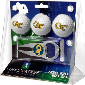 Georgia Tech Yellow Jackets 3 Ball Gift Pack with Hat Trick Divot Tool