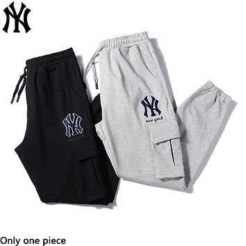 NY fashion casual embroidery LOGO cargo pants hot selling men's and women's pants