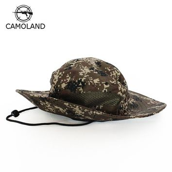 Breathable Tactical Airsoft Sniper Camouflage Boonie Hats Nepalese Cap Militares Army Mens Bucket Hat Military Hiking Hats
