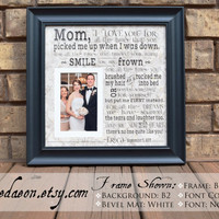 Mother of the Bride Gift, Mom of Bride Gift, Mother Wedding Gift, Mom Thank You Gift, Personalized Mother Wedding Gift- 15x15, Framedaeon