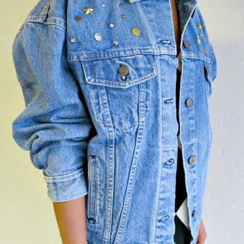 The Vintage Studded Rocker Levi Strauss Jean Jacket