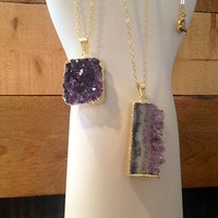 Necklace - Druzy Crystal (long) - Small Merch