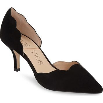 Sole Society 'Coralie' Scalloped Pointy Toe d'Orsay Pump (Women) | Nordstrom