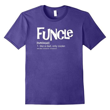 Funny uncle gift funcle definition shirt coolest uncle gift
