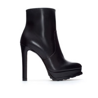 HIGH HEEL AND PLATFORM LEATHER ANKLE BOOT - Shoes - WOMAN | ZARA United States