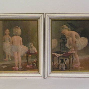 Set of Vintage Ballerina Prints