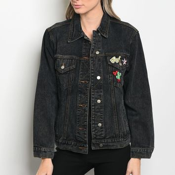 Denim Boyfriend Fit Jacket
