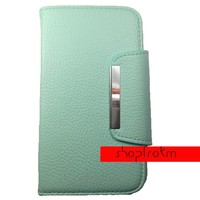 Too Cute To Be True Plain Mint Wallet Phone Case For The Samsung Galaxy Note 2