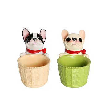 Frenchie Small Plant Pot