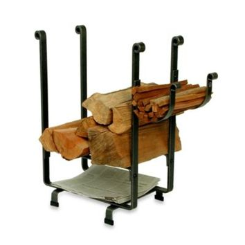 Enclume® Hearth Collection Rectangular Log Rack with Newspaper Holder