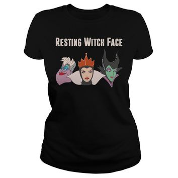 2017 Disney Resting witch face shirt Ladies Tee