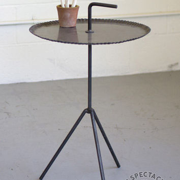 Numéro 3 Metal Tripod Side Table With Handle