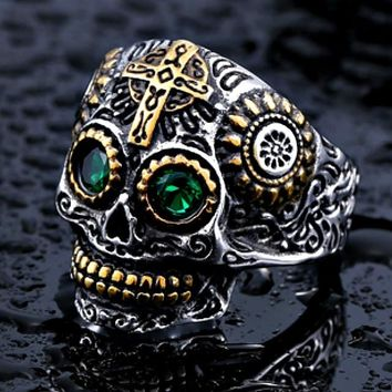 Badass Sugar Skull Ring