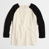 Factory colorblock baseball top : Blouses & Tees | J.Crew Factory